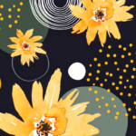 Abstract Floral Retro Pattern