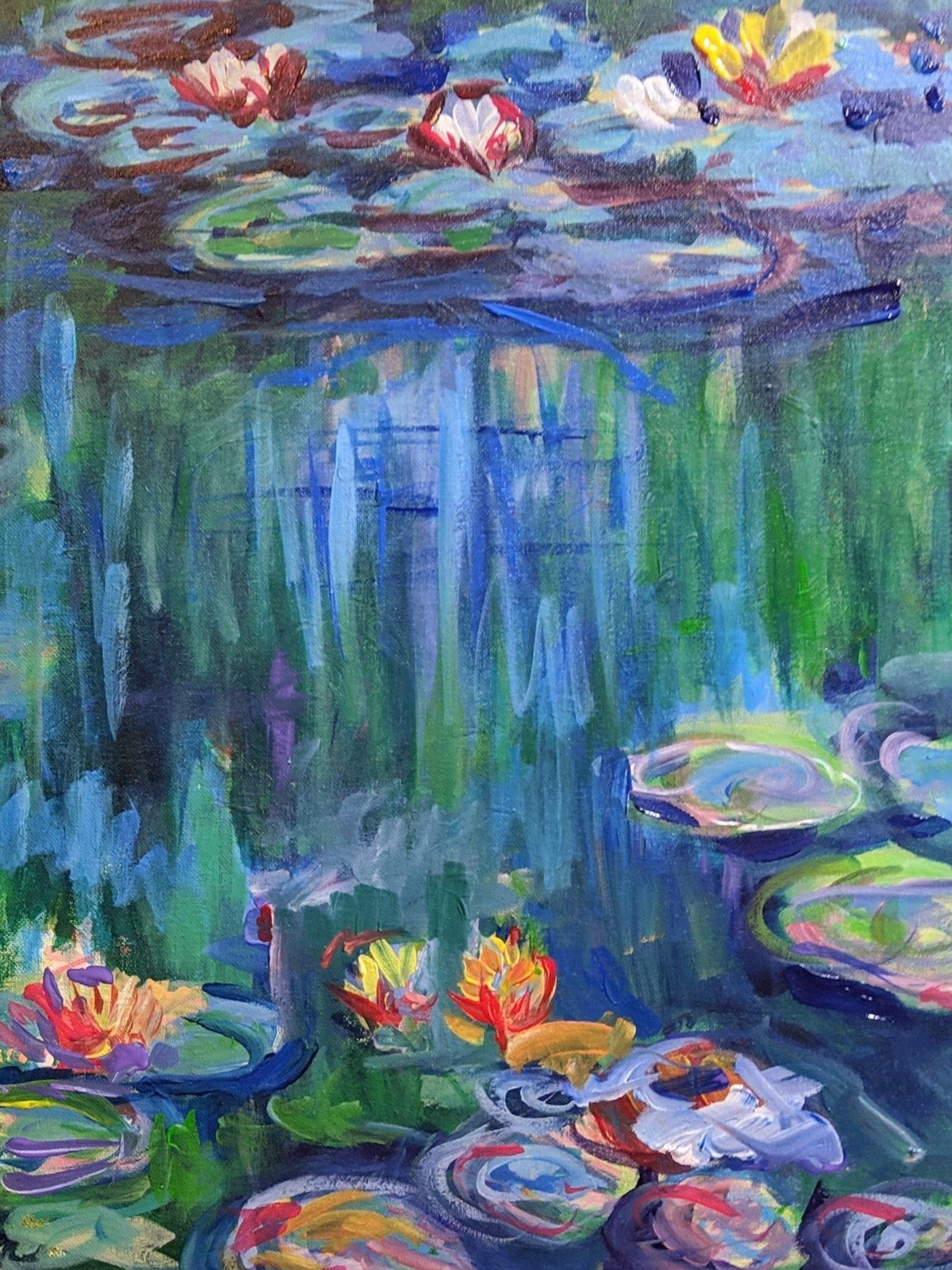 Water Lilies (1897-1898) by Claude Monet - Sold