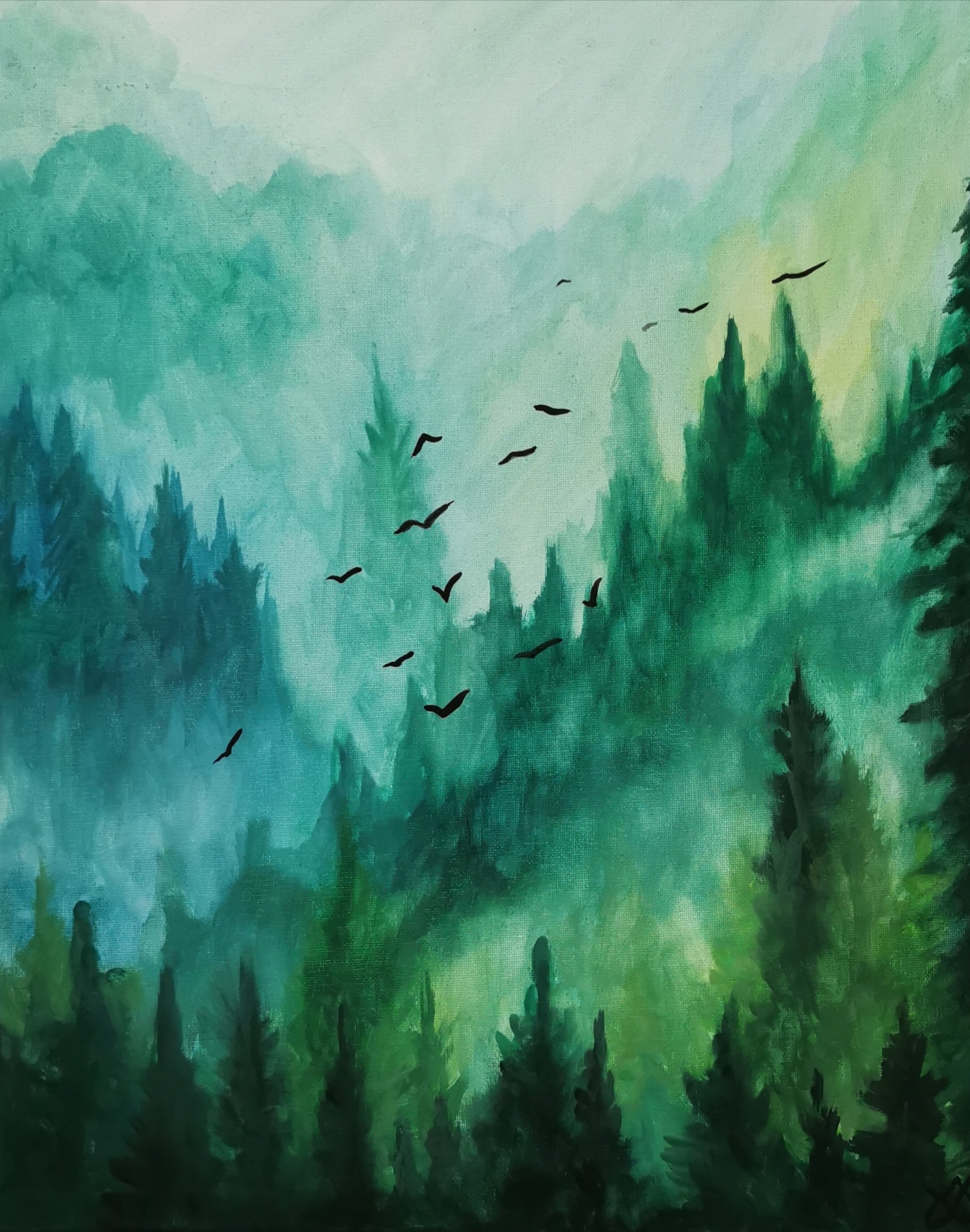 Mountain Mist - Watercolour - Sold Out