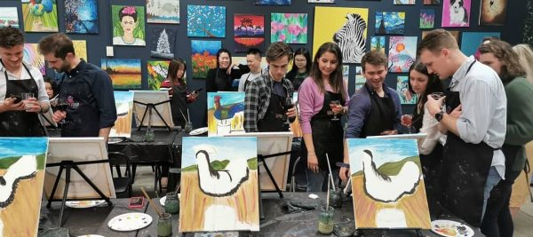 Paint and Sip Team Building activities in Adelaide