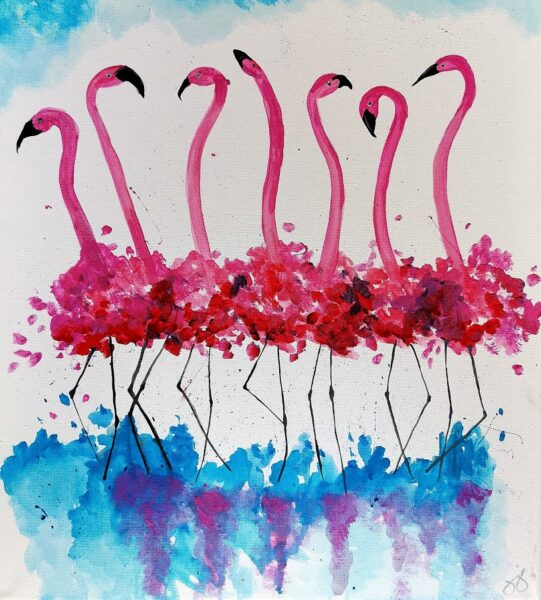 Flirty Flamingos