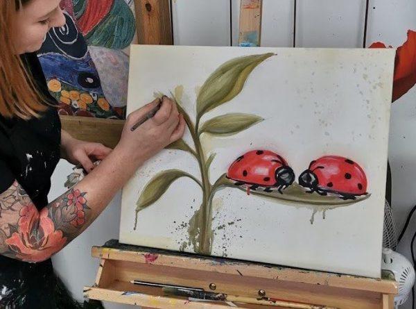 Ladybug Love Watercolour