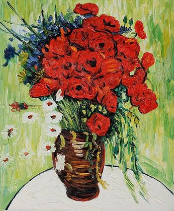 Van Gogh's Vase with Red Poppies