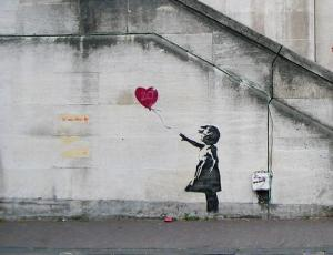 Banksy-inspired Red Balloon