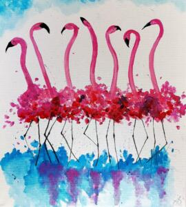 Flirty Flamingos © Studio Vino